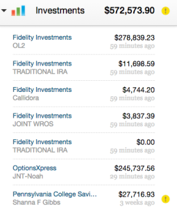 Investment accounts